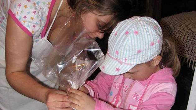 V neděli si mohly děti v přerovském skanzenu vyzkoušet zdobení vajíček a velikonočních perníčků. Ty pro ně upekly studentky z poděbradské hotelové školy.