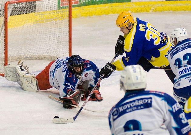 Hokejisté Nymburka vyhráli na ledě Jablonce 7:1. Dva góly dal i kanonýr týmu Oldřich Nýč.