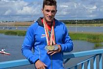 KANOISTA MARTIN FUKSA si vedl skvěle také na Akademickém mistrovství světa.  Bral jedno zlato a dvě bronzové medaile