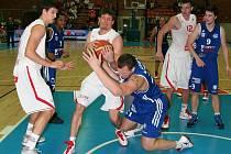 Z basketbalového utkání Mattoni NBL Nymburk - Ostrava (79:66)