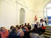 Slavnost ve uskutečnila ve vstupní hale poděbradského gymnázia.