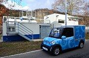 Otevřením první dobíječky pro elektromobily zcela nového typu se v pondělí pochlubila technicko-inženýrská společnost ÚJV v Řeži.