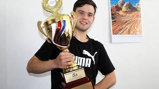 Lukáš Holub, vítěz soutěže Automechanik roku 2019 a žák nymburské odborné školy a učiliště.