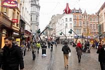 Poklidné centrum Bruselu před dvěma lety