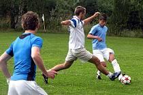 Z fotbalového turnaje v malé kopané v Pístech.