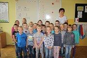 Žáci 1. C ZŠ T. G. Masaryka Poděbrady, třídní učitelka Věra Keleová.