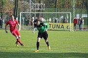Z divizního fotbalového utkání Polaban Nymburk - Štětí (2:2, PK 4:3)