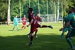 Z fotbalového utkání Postřižinského okresního přeboru Přerov nad Labem - Bohemia Poděbrady B (1:0)