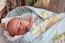 RÍŠA BUDE SPORTOVEC. Richard NĚMEC přišel na svět 22. března 2015 ve 20.20 hodin. Klouček vážil 3 950 g a měřil 52 cm. Je zatím prvním miminkem maminky Radky a táty Stanislava. V Hradištku  bude sousedit s Ondráškem Hákem.