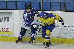 Z hokejového utkání ligy juniorů Nymburk - Tábor (4:4)