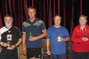 Nejlepší. Zleva druhý Salák, vítězný Douša, bronzový Kubica a čtvrtá Hanušová