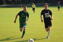 Z přípravného fotbalového utkání Slovan Poděbrady - Polaban Nymburk (5:1)
