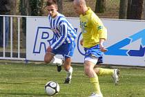 Z divizního fotbalového utkání Union Čelákovice - Teplice B (1:2)