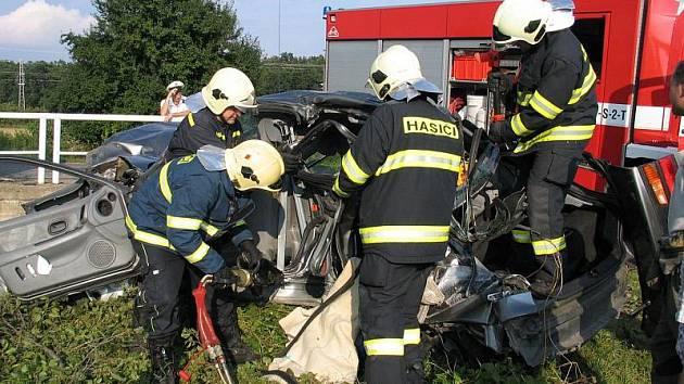 Z místa nehoda u Sokolče