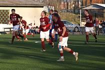 Z fotbalového utkání krajského přeboru Bohemia Poděbrady - Nové Strašecí (4:4, pk 3:2)