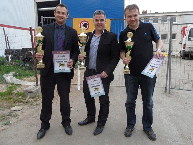 Zástupci tří nejlepších týmů Poděbradského poháru