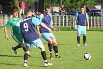 Z okresního fotbalového derby krajského přeboru Polaban Nymburk - Semice (3:2)