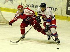 Z hokejového utkání druhé ligy Nymburk - Pelhřimov (4:6)