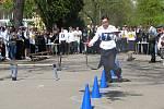 Běh číšníků na poděbradské kolonádě