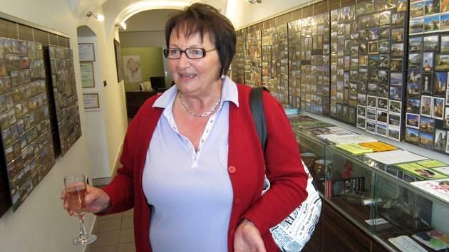 Výstava magnetků v poděbradském Turistickém informačním centru na Jiřího náměstí.
