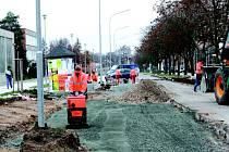 Finalizační práce v ulici Letců R.A.F.