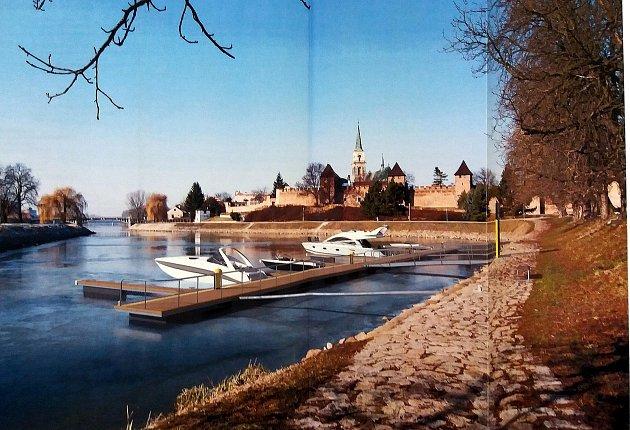 Vizualizace přístavišť v Nymburce a Poděbradech.