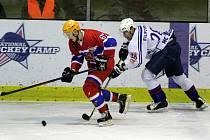 Z hokejového utkání play off druhé ligy Nymburk - Děčín (1:3)