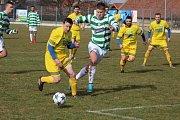 Z fotbalového utkání krajského přeboru Vykáň - Lhota (2:0)