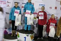 ZLATÁ KRASOBRUSLAŘKA. Anna Dušková z Lysé nad Labem vyhrála svůj závod na Zimní olympiádě dětí a mládeže na Vysočině