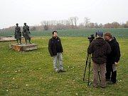 V Libici se natáčel dokument o archeologii.