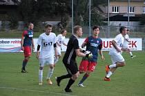 Z přípravného fotbalového utkání Městec Králové - Bohemia Poděbrady B (2:0)