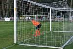 Z fotbalového utkání divize Ostrá - Kolín (0:0, pen. 7:8)