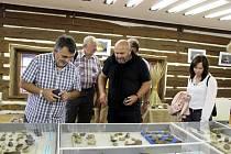 Návštěvníci obdivují více než 500 vystavených achátů, chalcedonů a dalších minerálů ze soukromých sbírek 15 regionálních sběratelů.