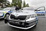Auto prvosledové hlídky s ochranným rámem projíždějící po poděbradské kolonádě vzbudilo ve městě rozruch. Ilustrační foto.