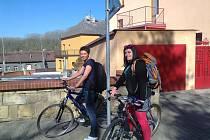 Terénní pracovnice Semiramis na kolech