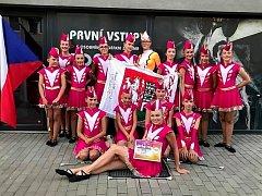 ÚSPĚCH. Mažoretky nymburského SKP skončily na Mistrovství Evropy na pátém místě