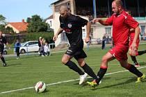 Z fotbalového utkání krajské I.A třídy Libice nad Cidlinou - Doksy (2:0)