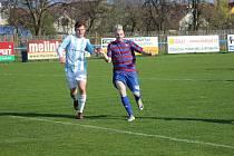 Z fotbalového utkání I.B třídy Sadská - Loučeň (3:2)
