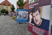Výstava o svobodě na Náměstí Přemyslovců.