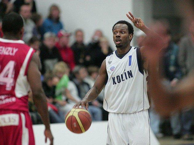 Z basketbalového utkání Mattoni NBL Kolín - Nymburk.