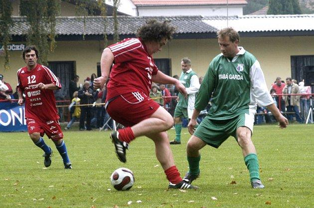 Richar Genzer ukázal, že umí lidi pobavit i fotbalem.