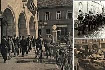 Historické snímky z konce druhé světové války z Nymburka.