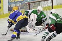 Z přípravného hokejového utkání Nymburk - Trutnov (4:3)