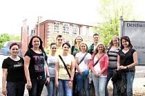 Studenti z Lysé v anglickém Derehamu