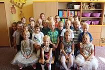 Žáci 1. A ZŠ Tyršova Nymburk, třídní učitelka Pavlína Kopečková.