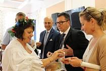 Usměvavý sympatický velvyslanec Italské republiky v České republice J.E. Aldo Amati navštívil v pátek Poděbrady.