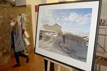 Z výstavy fotografa Pavla Štichy na nymburské radnici.