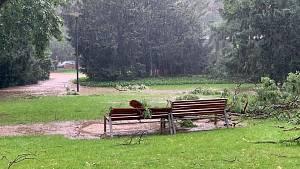 Bouřky a přívalové deště na Nymbursku 28. června 2020
