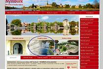 Záložka je na úvodní stránce a nese název Projekty města.