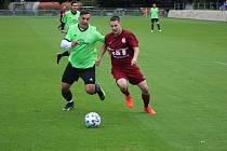 Z fotbalového utkání okresního přeboru Bohemia Poděbrady B - Hrubý Jeseník